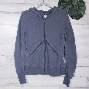 Nike Dri Fit Zip Front Vented Hooded Sweatshirt